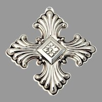 Reed Barton Christmas Cross Ornament Sterling Silver 1973