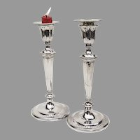 English George III Candlesticks Pair John Parsons Sterling Silver 1791