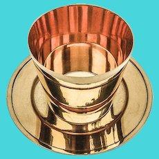 Tiffany Beaker Underplate Set Gold Wash Sterling Silver 1960