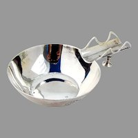 Cigar Ash Tray Cutwork Holder Sterling Silver Mono RW
