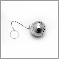 Large Tea Ball Hinged Lid Blackinton Sterling Silver