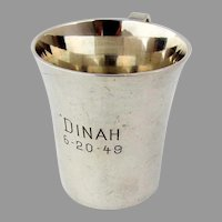 Tiffany Childs Juice Cup Sterling Silver Mono Dinah 1949