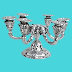 German 6 Light Candelabrum Bruckmann Sons 835 Silver 1930
