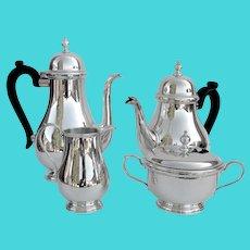 Tiffany Queen Anne 4 Piece Tea Coffee Set Sterling Silver