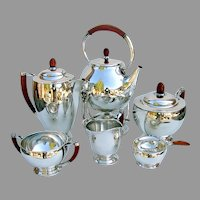 Roif Fritiof Bratland 6 Piece Tea Coffee Set Sterling Silver 1946 Denmark