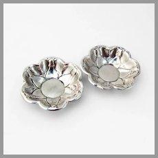 Belleflower Nut Cups Pair Rogers Sterling Silver