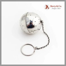 Lunt Hinged Tea Ball Sterling Silver