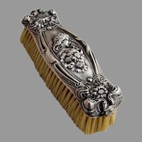 He Loves Me Small Clothes Brush Unger Bros Sterling Silver 1903