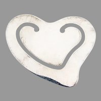Tiffany Elsa Peretti Heart Bookmark Sterling Silver