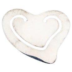 Tiffany Elsa Peretti Heart Bookmark Sterling Silver