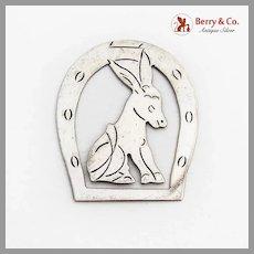 Donkey Horseshoe Bookmark Sterling Silver Mexico