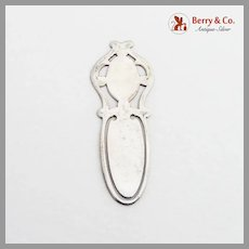 Cutwork Design Bookmark Sterling Silver No Mono