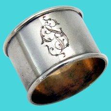 Russian Luncheon Napkin Ring 84 Standard Silver 1900 Mono GS