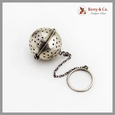 Souvenir Tea Ball Paye Baker Sterling Silver