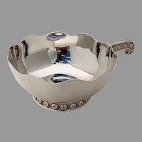 Wavy Edge Kovsh Bowl Lunt Tane Sterling Silver Mexico