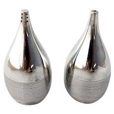 Georg Jensen Salt Pepper Shakers Set No 996 Sterling Silver 1963 Denmark