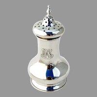 Sugar Caster Shaker Sterling Silver Mono MHN