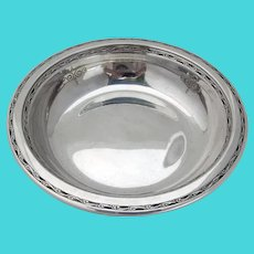 Old Lace Candy Nut Bowl Dish Towle Sterling Silver 1939