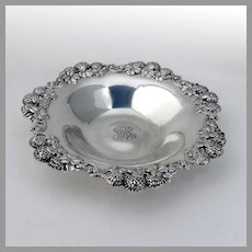 Tiffany Clover Blossom Bowl Sterling Silver 1905 Mono MRS