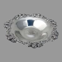 Tiffany Clover Blossom Bowl Sterling Silver 1905 Mono MRS