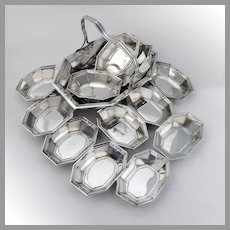Madam Morris Nut Dishes Set Whiting Sterling Silver 1909 No Mono