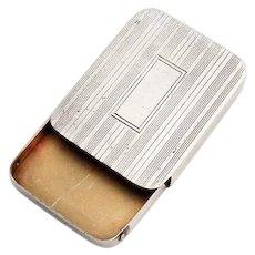 Sliding Aspirin Pill Box Gilt Interior Blackinton Sterling Silver