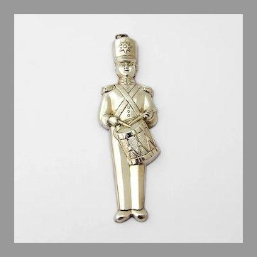Drummer Soldier Christmas Ornament Gorham Sterling Silver