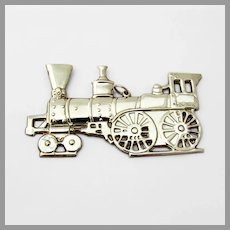 Locomotive Christmas Ornament Gorham Sterling Silver 1976