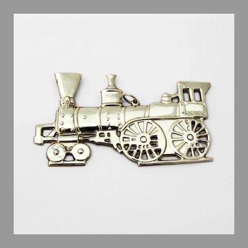 Locomotive Christmas Ornament Gorham Sterling Silver 1976