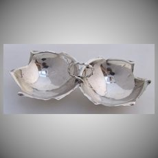 Sciarrotta Double Leaf Serving Bowl Sterling Silver 1950