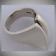 George Jensen Ring Danish Modernist Sterling Silver 1970