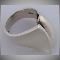 George Jensen Ring Danish Modernist Sterling Silver 1970