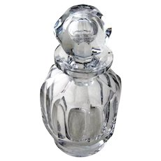 Baccarat Clear Crystal Decanter Stopper Malmaison 1970
