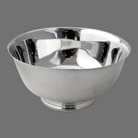 Paul Revere Bowl Tiffany Sterling Silver 1960 No Mono