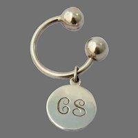 Tiffany Key Chain Sterling Silver Mono CS