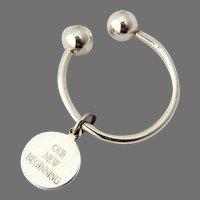 Tiffany Key Chain Sterling Silver Mono 1999