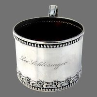 Towle Baby Cup Sterling Silver Mono Lee Schlesinger