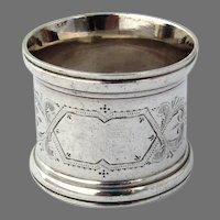 Engraved Napkin Ring Coin Silver No mono