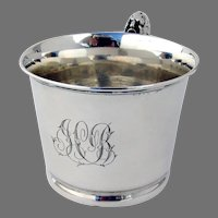 Large Cup Ornate Handle Reed Barton Sterling Silver Mono JCB