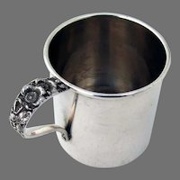 Forget Me Not Baby Cup Stieff Sterling Silver 1910 No Mono