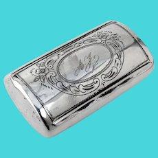 Swedish Snuff Box 830 Silver Mono AJ
