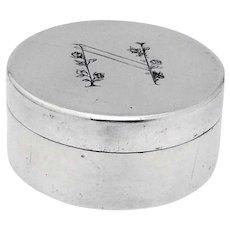 Swedish Round Box Stromdahl Sterling Silver 1963 Mono N