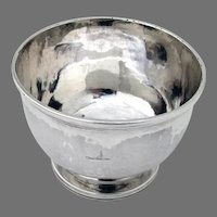 Georgian Small Footed Bowl English Sterling Silver 1817 Crest