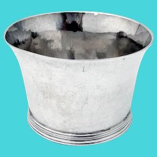 Georgian Small Bowl Banded Base English Sterling Silver No Mono