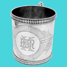 Engraved Cup Whiting Sterling Silver Mono EMK