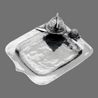 Small Shield Form Dish Applied Helmet Dagger Sterling Silver Peru