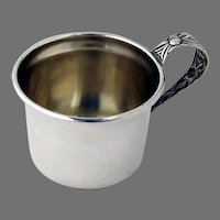 Juice Cup Floral Handle Manchester Sterling Silver No Mono