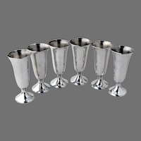 6 Cordial Cups Set Gorham Sterling Silver No mono