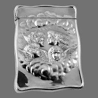 Reynolds Cherubs Card Case English Sterling Silver 1907