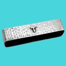 Hammered Napkin Ring Lebolt Sterling Silver 1930 Mono T